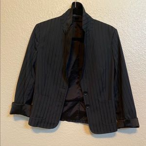 EXPRESS DESIGN STUDIO Black Striped Blazer